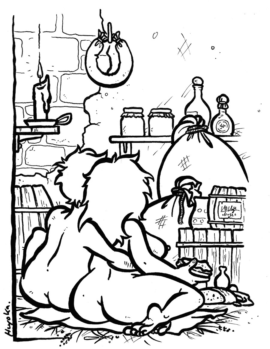 """Drawing """"Illustration for a short story"""""""