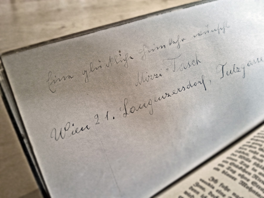 "Photo: ""Handwritten inscription in an old book"""