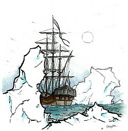 "Drawing ""Polar Mood (1): Explorers"""