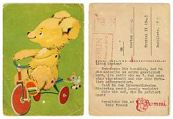 "Scan of an old post card (showing ""Bummi"")"