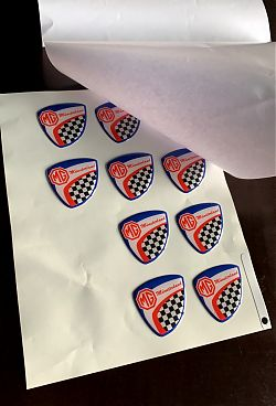 Photo: Badges for a club of motorists and MG friends