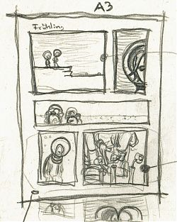 "First sketch for my comic strip ""Spring"""