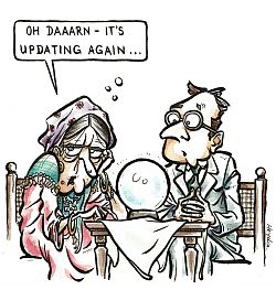 "Cartoon ""Update for the Crystal Ball"""