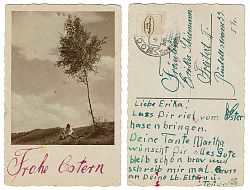 """""""Happy Easter!"""" – Scan of an old post card"""