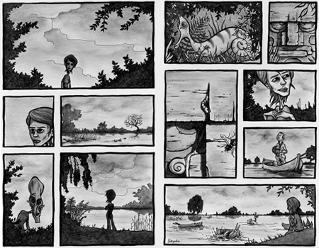 "Comic ""The Lake"""