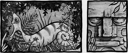 """Detail from the comic strip """"The Lake"""""""