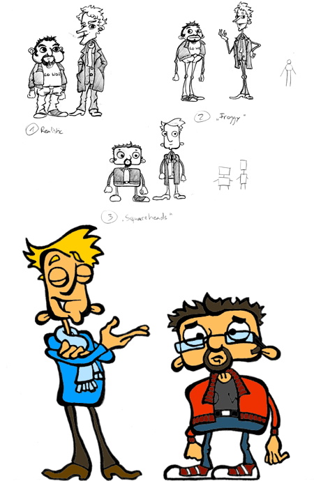 """Sketches and Finished Picture: """"Pip & Frank"""""""